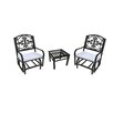 Oakland Living Lakeville 3 Piece Dining Set with Cushions