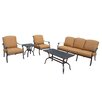 Oakland Living Hampton 5 Piece Deep Seating Group with Cushions