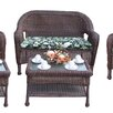 Oakland Living Resin Wicker 2 Piece Seating Group with Cushion