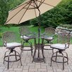 Oakland Living Hummingbird Mississippi Swivel Bar Set with Cushions and Umbrella