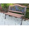 Oakland Living Horse Wood and Cast Iron Park Bench