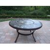 """Oakland Living Stone Art 44"""" Chat Coffee Table"""