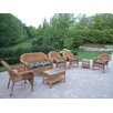 Oakland Living Resin Wicker 7 Piece Seating Group Set