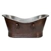 "Premier Copper Products Double 67"" x 32"" Slipper Bathtub"