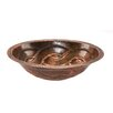 Premier Copper Products Oval Braid Undermount Bathroom Sink