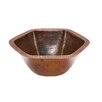 Premier Copper Products Hexagon Undermount Bathroom Sink