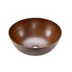 Premier Copper Products Small Round Vessel Bathroom Sink