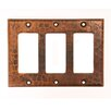 Premier Copper Products Copper Switchplate Triple Ground Fault / Rocker Cover GFI in Oil Rubbed Bronze