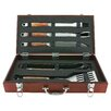 Mr. Bar-B-Q PD Forged 5 Piece Tool Set with Wood Carrying Case