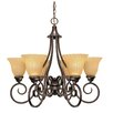 Nuvo Lighting Moulan 6 Light Chandelier