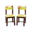 Guidecraft Jungle Party Kids Desk Chair (Set of 2)