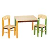 Guidecraft See and Store Kids 3 Piece Rectangle Table and Chair Set