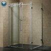 """Vigo 32"""" W x 32"""" D x 73.38"""" H Sliding Door Frameless Shower Enclosure"""