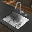 """Vigo Platinum 23"""" x 18"""" All in One Undermount Kitchen Sink with Faucet"""