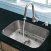 """Vigo Platinum 23"""" x 17.75"""" Undermount Stainless Steel Kitchen Sink with Faucet"""