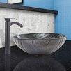Vigo Interspace Glass Vessel Bathroom Sink and Otis Faucet Set