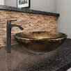 Vigo Sintra Glass Vessel Bathroom Sink and Linus Faucet Set