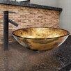 Vigo Copper Shapes Glass Vessel Bathroom Sink and Dior Faucet Set