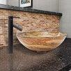 Vigo Swirl Glass Vessel Bathroom Sink and Dior Faucet Set