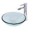 Vigo Sheer Sepia Glass Vessel Bathroom Sink and Shadow Faucet Set