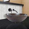 Vigo Shield Glass Vessel Sink and Olus Wall Mount Faucet Set