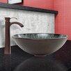 Vigo Enchanted Earth Glass Vessel Sink and Otis Faucet Set