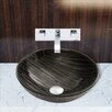 Vigo Interspace Glass Vessel Sink and Titus Faucet Set