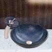 Vigo Eclipse Glass Vessel Sink and Waterfall Faucet Set