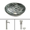 Vigo Rising Moon Glass Vessel Sink and Seville Faucet Set
