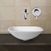Vigo Phoenix Stone Glass Vessel Sink with Wall Mount Faucet