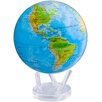 """MOVA Globes 8.5"""" Blue Oceans Relief Map Globe with Crystal Base"""
