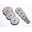 "USA Sports by Troy Barbell 1.25 lbs Standard 1"" Plate in Gray (Set of 5)"