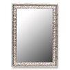 Hitchcock Butterfield Company Antique Mayan Silver Framed Wall Mirror