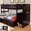 Discovery World Furniture Twin Over Full Slat Customizable Bedroom Set