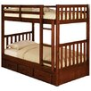 Discovery World Furniture Weston Twin over Twin Bunk Bed with Built-In Ladder