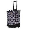 Olympia Fashion Damask Rolling Shopping Tote