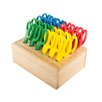 ECR4kids Cutting Edge® 24 Piece Classroom Pointed Tip Scissor Hardwood Rack Set