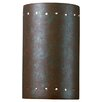 Justice Design Group Ambiance Open Top and Bottom Small Cylinder 1 Light Wall Sconce