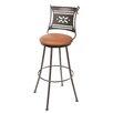 "Stone County Ironworks Bistro 30"" Swivel Bar Stool with Cushion"