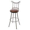 "Stone County Ironworks Waterbury 25"" Swivel Bar Stool with Cushion"