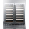 Summit Appliance 70 Bottles Dual Zone Freestanding Wine Refrigerator