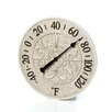 """Infinity Instruments 15"""" Le Blanc Fleur Wall Thermometer"""
