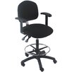 Bench Pro Mid-Back Tall Industrial Office Chair with Fix Arm and Adjustable Seat Angle