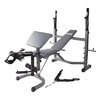 Body Flex Body Champ Olympic Weight Bench with Adjustable Foam Rollers
