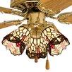 """Meyda Tiffany 4"""" Tiffany Glass Bell Ceiling Fan Fitter Shade"""