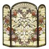 Meyda Tiffany Heart 3 Panel Fireplace Screen