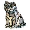 """Meyda Tiffany Sassy Cat 7"""" H Table Lamp with Novelty Shade"""