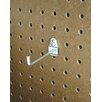 Triton Products DuraHook 4 In. Single Rod 30 Degree Bend 3/16 In. Dia. Zinc Plated Steel Pegboard Hook for DuraBoard, 10 Pack