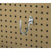 Triton Products DuraHook 3-3/4 In. Curved 3-3/32 In. I.D. Zinc Plated Steel Pegboard Hook for DuraBoard, 10 Pack