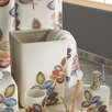 Croscill Home Fashions Mosaic Leaves Waste Basket